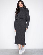 NLY Trend Grå Long Knit Skirt