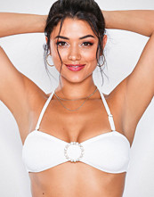 River Island White Pearl Trim Bandeau Top