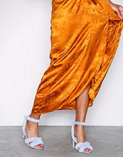 NLY Shoes Lys blå Fuzz Heel Strap Sandal