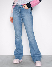 River Island Mid Blue Marine Flare Jeans