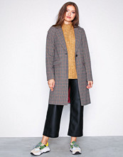 New Look Brown Houndstooth Check Coat