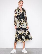 Vero Moda Svart Vmtone Calf Dress W Flowers Exp