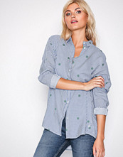 Lee Jeans Blue Longline Shirt Beyond Blu
