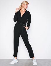 Glamorous Black Long Sleeve Jumpsuit