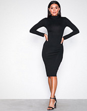 Missguided Black High Neck Bodycon Dress