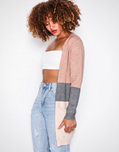 Only Lys rosa onlQUEEN L/S Long Cardigan Knt Noos