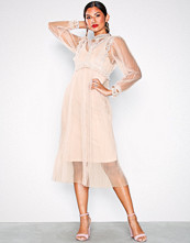 U Collection Dusty Pink Strappy Lace Dress