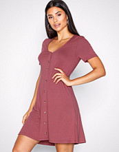 NLY Trend Burgundy A lined Button Dress