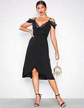 U Collection Cold Shoulder Midi Dress