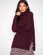Polo Ralph Lauren Purple Tn W Sd Slts-Long Sleeve-Sweater
