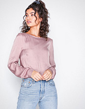 NLY Trend Rosa Drapy Back Blouse