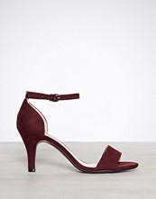 Bianco Burgundy Low Basic Sandal