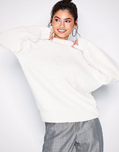 NLY Trend Hvit Fluffy Mixed Knit