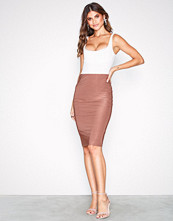 NLY One Rust Double Layer Slinky Skirt