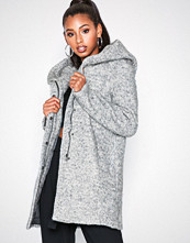 Only Onlsedona Boucle Wool Coat Otw Noos Lys grå