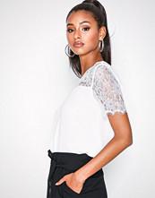 Jacqueline de Yong Jdyfiona S/S Lace Top Wvn Hvit