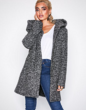 Only Onlsedona Boucle Wool Coat Otw Noos Mørk grå