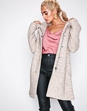 Only Onlsedona Boucle Wool Coat Otw Noos Lys brun