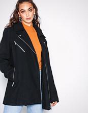 Vero Moda Svart Vmbiker Class 3/4 Wool Jacket Boos