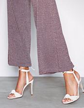 NLY Shoes Hvit Knot Vintage Heel