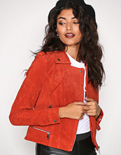 Vero Moda Orange Vmroyce Short Suede Jacket Col