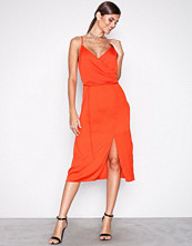River Island Red Knot Front Slip Dress