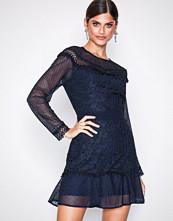 True Decadence Navy Long Sleeve Midi Dress