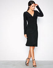 Lauren Ralph Lauren Black Kellyn-Long Sleeve-Day Dress