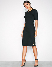 Lauren Ralph Lauren Black Raena-Elbow Sleeve-Casual Dress