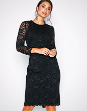 Lauren Ralph Lauren Black Dexter-3/4 Sleeve-Day Dress