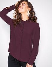 Vero Moda Mørk lilla Vmella Ls Shirt Vmc