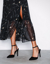 NLY Shoes Svart Pointy Strap Heel Sandal