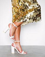 NLY Shoes Hvit Strap Heel Block Sandal