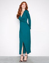 NLY Trend Teal Long Sleeve Wrap Dress