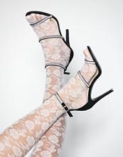 NLY Shoes Svart Triple Jewel Strap Heel