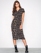 New Look Animal Print Midi Shirt Dress