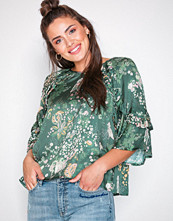 Odd Molly Dark Green flower fantasy flirt blouse