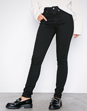 Selected Femme Svart Slfmaggie Hw Skinny Black Jeans W N