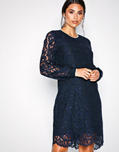 Lauren Ralph Lauren Navy Yaritza-Long Sleeve-Casual Dress