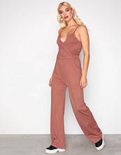 NLY Trend Rust Strappy Solid Jumpsuit