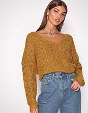 Only Orange onlHANNI L/S V-Neck Pullover