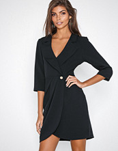 River Island Black LS Tux Dress