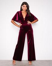 U Collection Velvet Jumpsuit