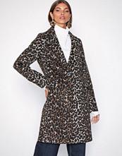 New Look Brown Leopard Leopard Print Longline Coat