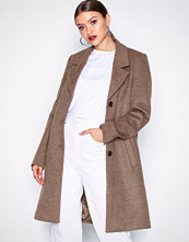 Selected Femme Brun Slfsasja Wool Coat Noos B