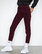 Lee Jeans Burgundy Mom Straight Burgundy