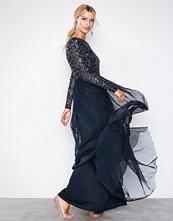 Maya Navy Delicate Sequin Maxi Dress