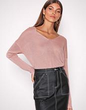 Only Lys rosa onlPISA L/S V-Neck Pullover Knt Noo