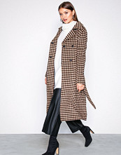 Selected Femme Lys grå Slftjekka Wool Coat B