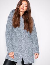 Jacqueline de Yong Jdydemea Hood Boucle Jacket Otw Lys grå